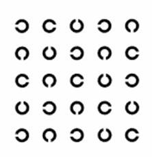 grafic de acuitate vizuală iluminată)